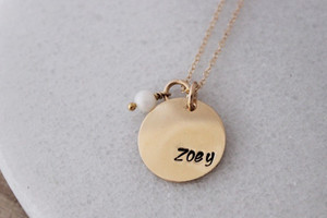 name disc + birthstone