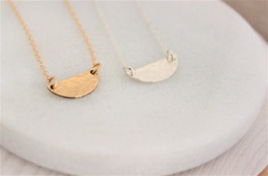 hammered half moon | gold or silver