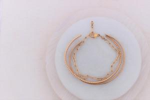 bracelet trio   gold