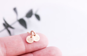 """molly - birth month flowers  • 1/4"""" • gold or silver"""