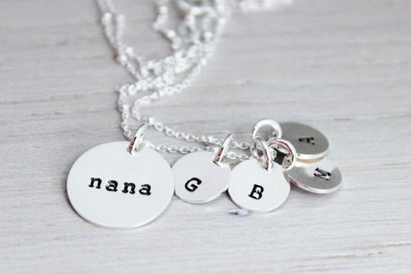 nana necklace with initials