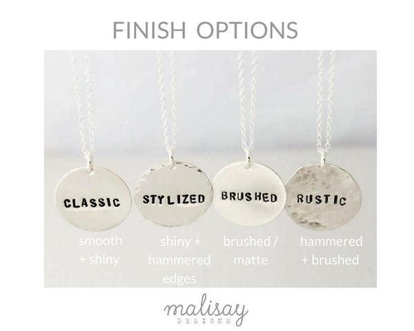 Finish options