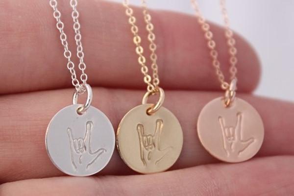 """Ellie - 1/2"""" design necklace • gold or silver"""