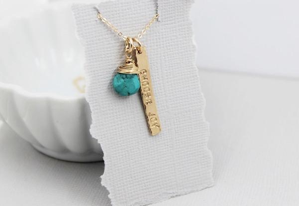 choose joy gold + turquoise