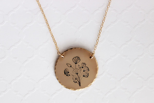 Floral medallion necklace