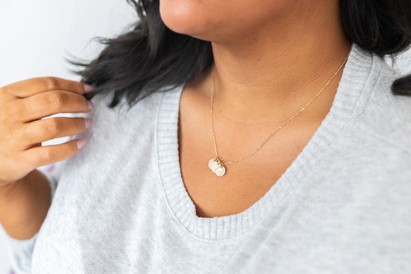 """3/8"""" initials necklace • gold or silver"""
