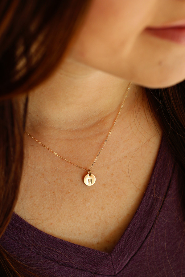 "cece - 3/8"" design necklace • gold or silver"