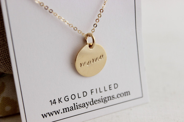 """mama 1/2"""" round • gold or silver"""