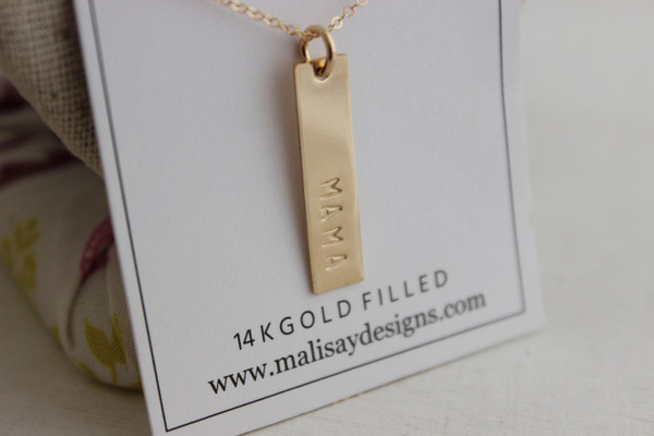 Mama rectangle • gold or silver