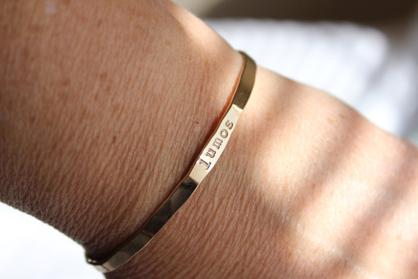 Lumos • 14k gold cuff bracelet