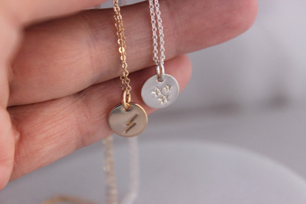 3 little stars necklace | silver or gold