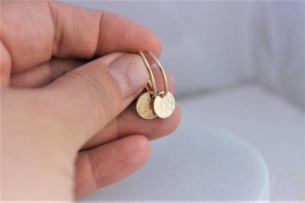 Grace • Endless Hoop Earrings   gold or silver