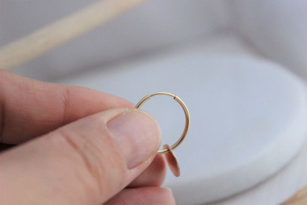 Grace • Endless Hoop Earrings | gold or silver
