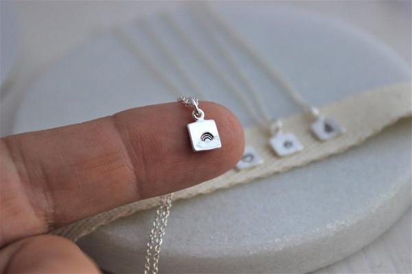 Petite square • sterling silver