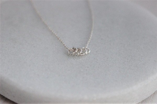 Endless Rings Necklace • sterling silver