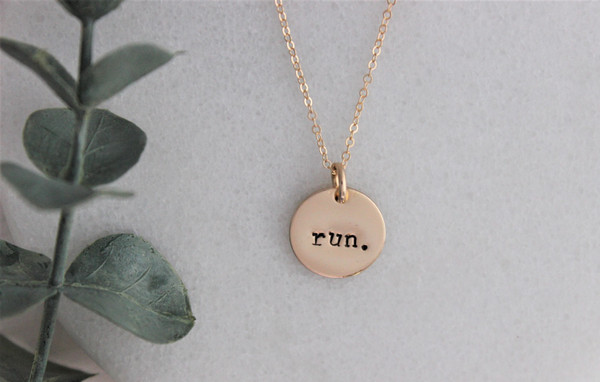 run. necklace | gold or silver