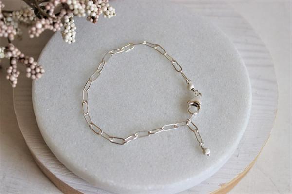 link bracelet • sterling silver