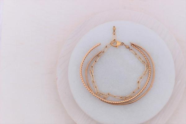 bracelet trio   sterling silver