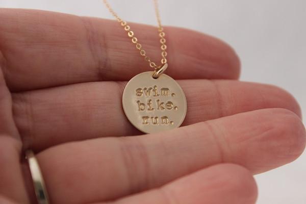 triathlon necklace | gold or silver