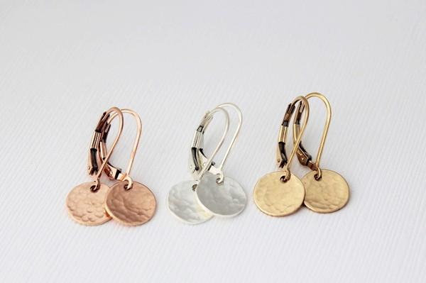 Faith • Leverback Earrings | gold or silver