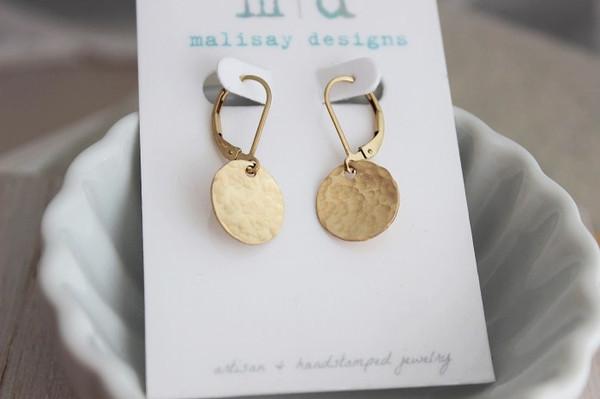 """disc earrings • 1/2"""""""