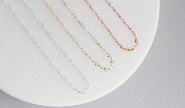 cable chain • gold or silver