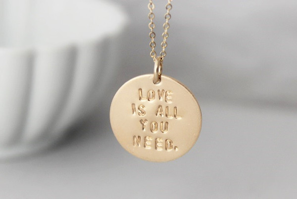 love is all you need. • silver, yellow gold, rose gold
