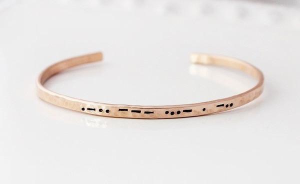 cuff bracelet • morse code