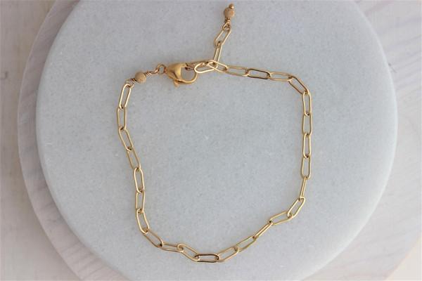 link bracelet • 14k gold filled