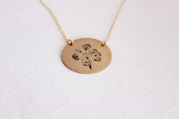 Floral medallion necklace
