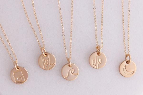 "cece - 3/8"" design necklace • gold or silver"