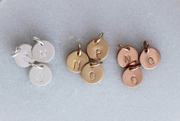 """3/8"""" initial • gold or silver"""