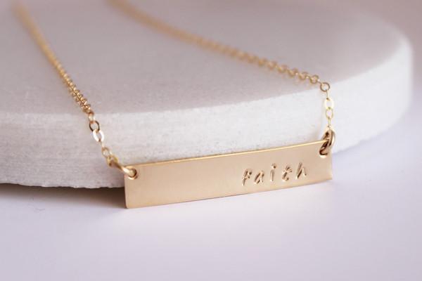 horizontal bar necklace