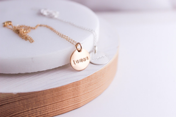 lumos necklace   silver or gold
