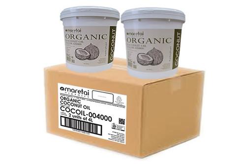 Maretai - Bulk Organic Virgin Coconut Oil Undeodorized - 2 X Pail 4 L - Carton of 2