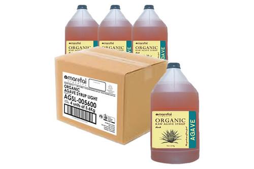 Maretai - Bulk Organic Agave Syrup / Agave Nectar Light - 4 x Gallon 5. 6 kg