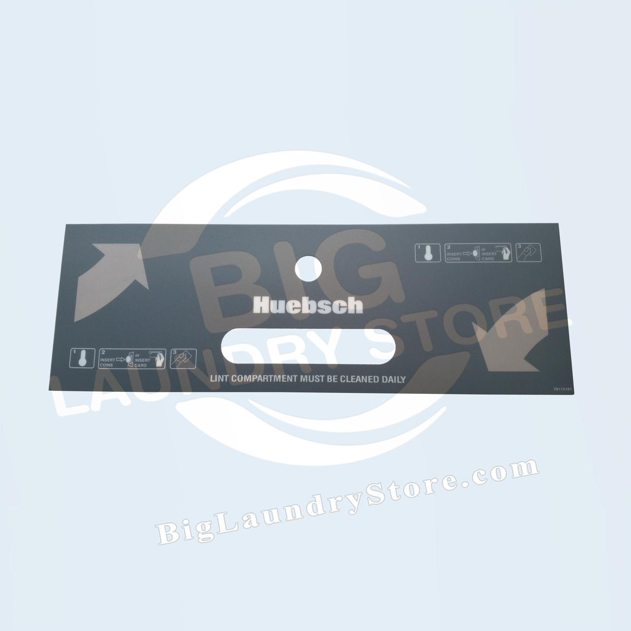 Huebsch Upper Lint Drawer Overlay - Huebsch # 70115101
