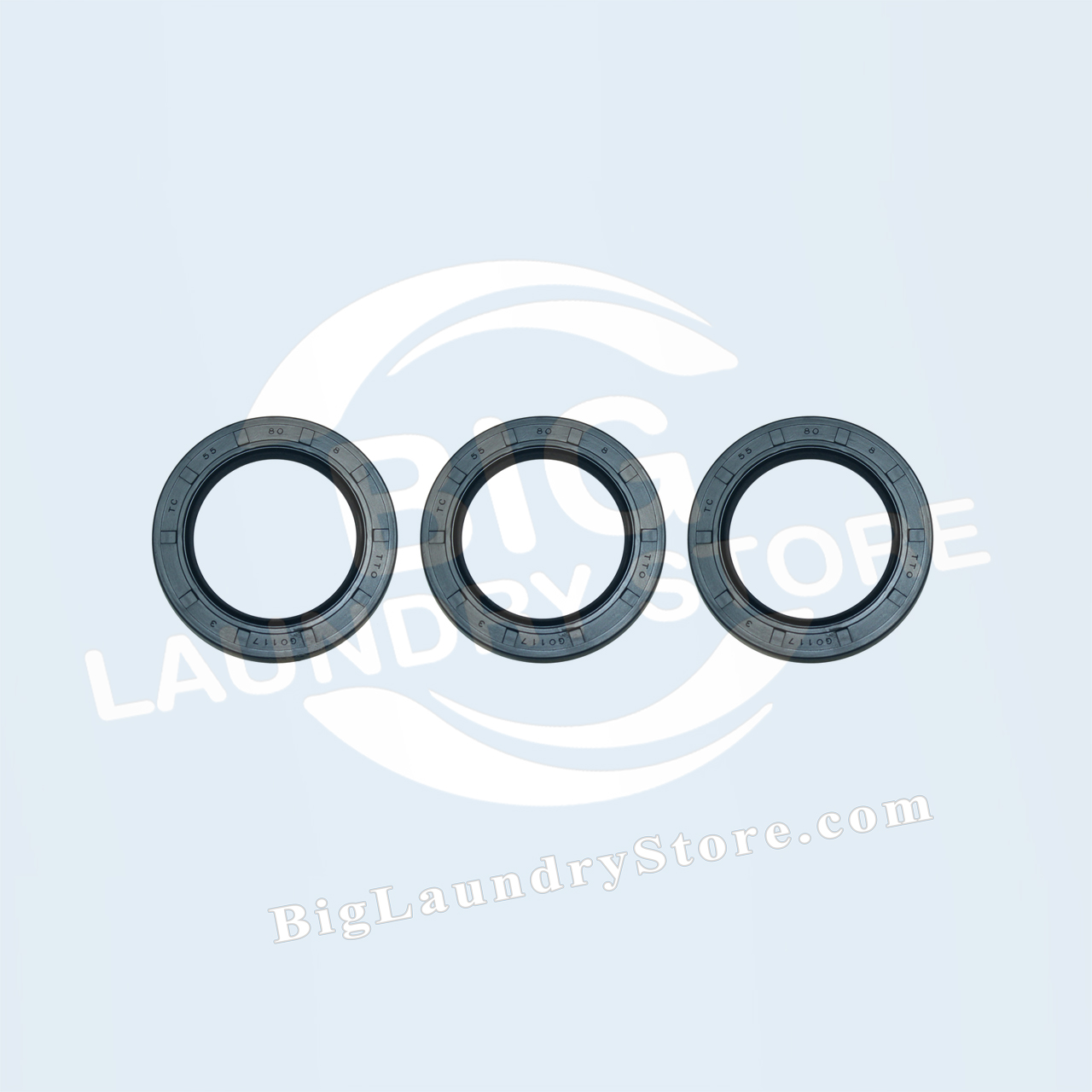 Three (3) 55-80-8 Seals for Wascomat W75 (Late) - Wascomat # 990235S