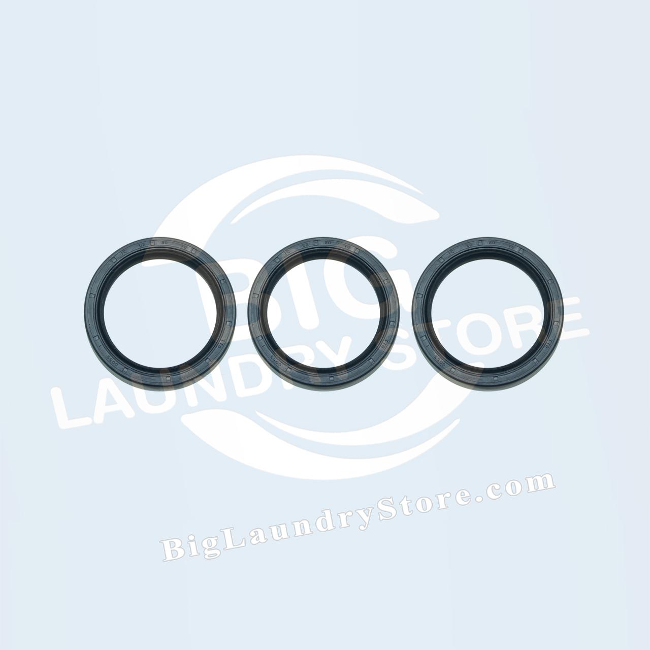 Three (3) 62-80-10 Seals for Wascomat W125 - Wascomat # 990208S