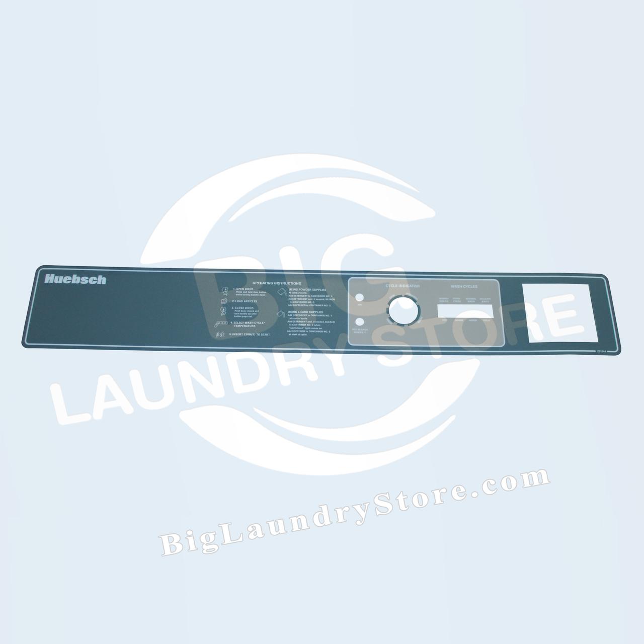 Huebsch Control Panel MD50, HC50 Overlay - Huebsch # F231544