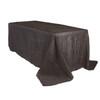 90 x 132 inch Rectangular Crinkle Taffeta Tablecloths Black