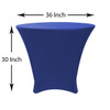 36 x 30 inch Lowboy Cocktail Round Stretch Spandex Table Cover Royal Blue, Wholesale