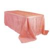 90 x 132 inch Rectangular Crinkle Taffeta Tablecloths Coral