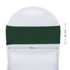Spandex Chair Bands Hunter Green measurements