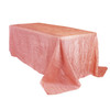 90 x 156 Inch Rectangular Crinkle Taffeta Tablecloth Coral
