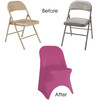 Stretch Spandex Folding Chair Cover Fuchsia