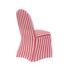 Stretch Spandex Banquet Chair Cover Striped White and Red