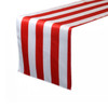 14 x 108 Inch Satin Table Runner Red/White Striped