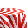 Red White Stripe Tablecloth