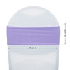 Spandex Chair Sashes Lavender measurements